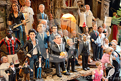 Famous puppets by Naples Editorial Stock Photo