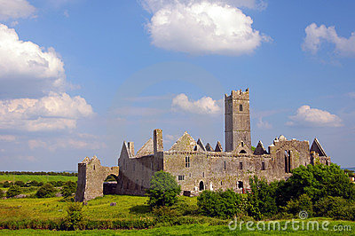 Famous quin abbey in county clare, ireland