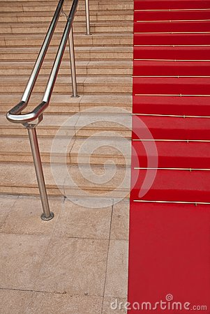 Famous red carpet in Cannes