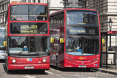 Famous red double-decker London bus Editorial Photo