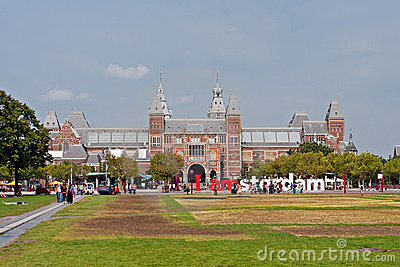 Famous Rijksmuseum in Amsterdam Editorial Photo
