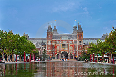 Famous Rijksmuseum in Amsterdam Editorial Stock Photo