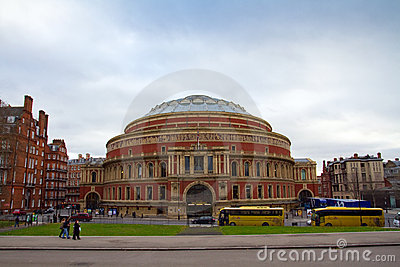 Famous Royal Albert Hall in London Editorial Stock Photo