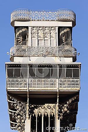 Famous Santa Justa Elevator