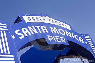 Famous Santa Monica Pier Sign