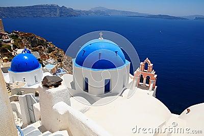 Famous Santorini island, Greece