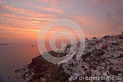 Famous Santorini sunset