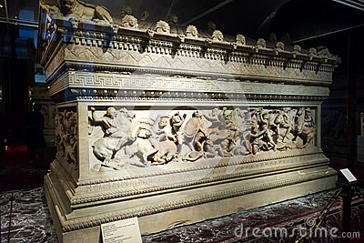 The famous sarcophagus of Alexander in the Istanbul Archaeology
