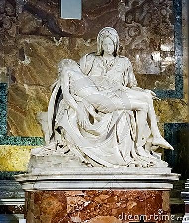 Free Famous Sculpture Pieta Of Michelangelo Inside St. Peter Church I Stock Photos - 44213443