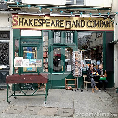 Shakespeare and Company Book Shop Editorial Image