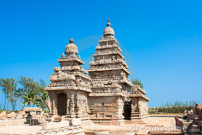 Famous shore temple at Mamallapuram