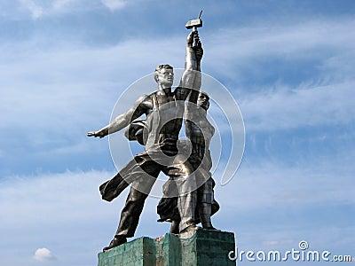 Famous Soviet monument