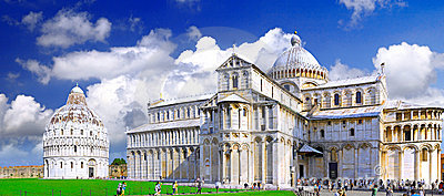 Famous Square of Miracles in Pisa, Italy Editorial Image
