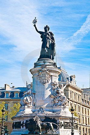 The Famous Statue of the Republic in Paris
