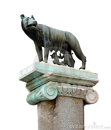 Famous statue of the she-wolf in Rome