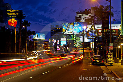 The Famous Sunset Strip in Los Angeles Editorial Image