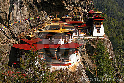 Famous Taktshang monastery in Bhutan