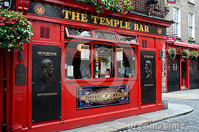Famous Temple Bar in Dublin Editorial Image