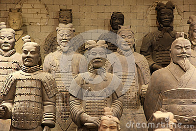 The famous terracotta warriors