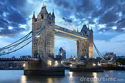 Famous Tower Bridge, London, UK