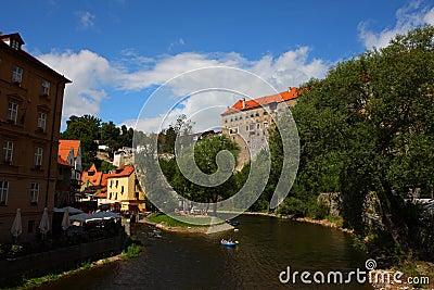 The famous town,Cesky Krumlov