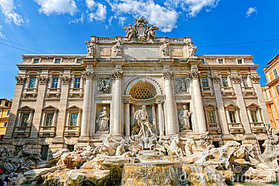 Famous Trevi s Fountain