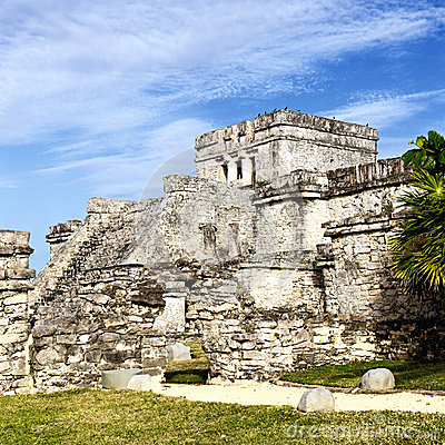 Free Famous Tulum Ruins Stock Photography - 25221452