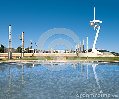 Famous TV Tower of Barcelona in Spain, Europe. Editorial Photography