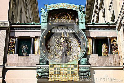 Famous Vienna clock - ankeruhr