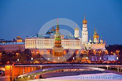 Famous  view of Moscow Kremlin