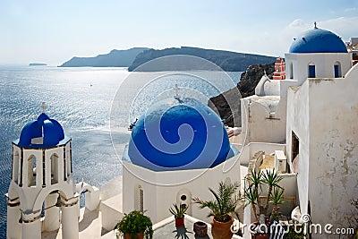 Famous view of Santorini