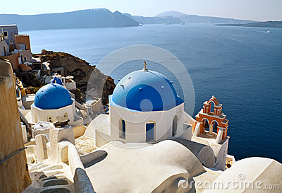 Famous view of Santorini
