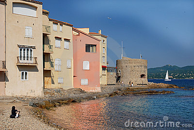 Famous village Saint Tropez in France
