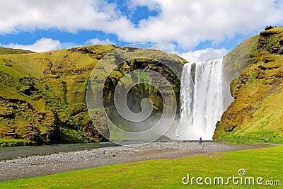Famous waterfall Skogafoss