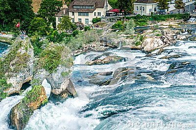 Famous Waterfall in Swiss