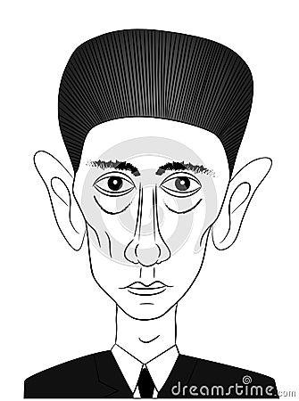 Famous writer Franz Kafka Editorial Photography