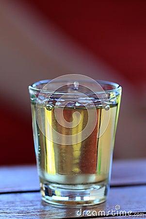 Free Famous Yellow Rakia Glass Royalty Free Stock Images - 74222809