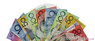 A fan of Australian bank notes