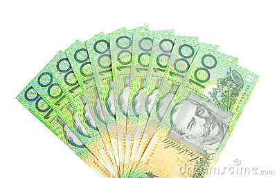 A fan of Australian dollars