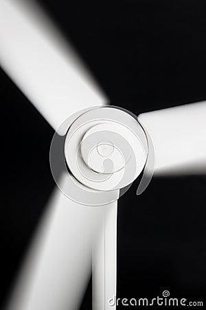 Fan blades in blurred motion