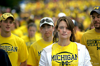 Fan de futebol de Michigan Foto Editorial