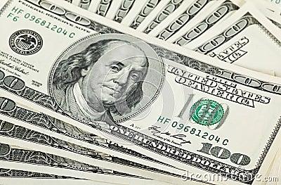 Fan of dollar banknotes