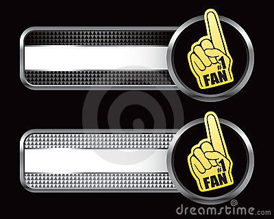 Fan hand specialized banners