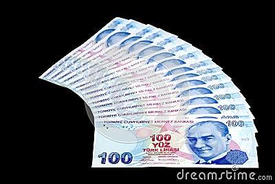 Fan of hundred Liras