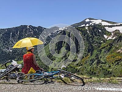 Fan of Le Tour de France Editorial Photography