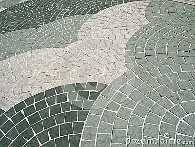 Fan shape Grey colour Square shaped stone bricks