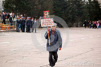 Fan of Stalin Editorial Stock Photo