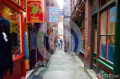 Fan Tan Alley in Victoria, British Columbia Editorial Stock Image