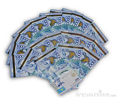 A fan of ten thousand Kazakhstan currency