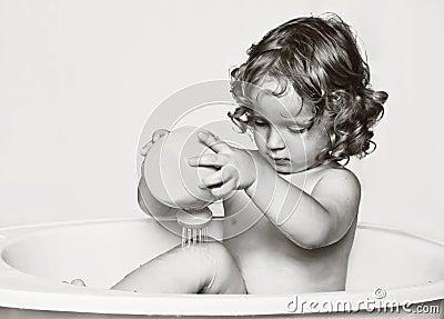 The fan of water procedures.